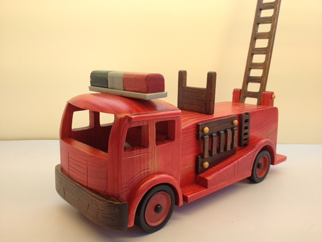 Handmade wool crafts vintage fire truck model home gifts(China (Mainland))