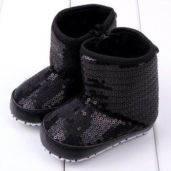 Children Infant Kids Baby Girl Sequins High Boots Soft Bottom Anti-slip Walking Shoes Booties New