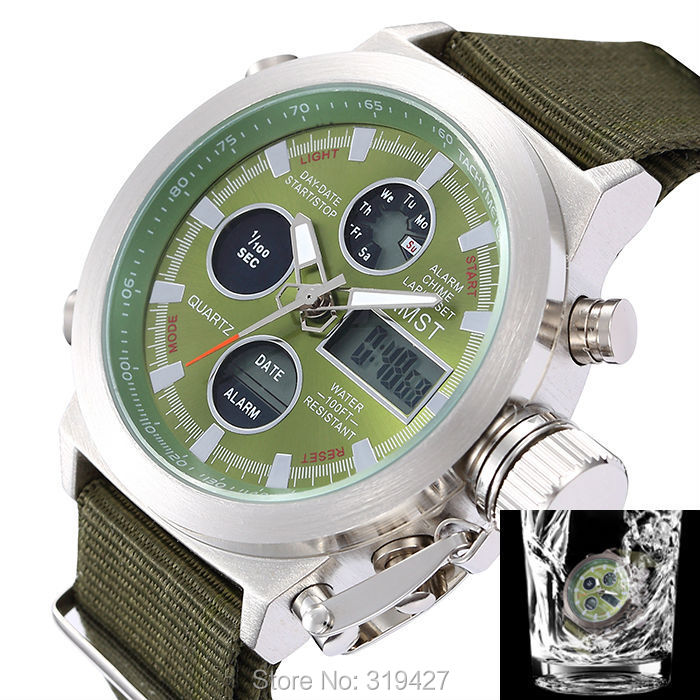 Army Green Man 30 Meters Waterproof Watch Multifunctional Men Sports Watches Military Army Japan Movement Relogio Masculino(China (Mainland))