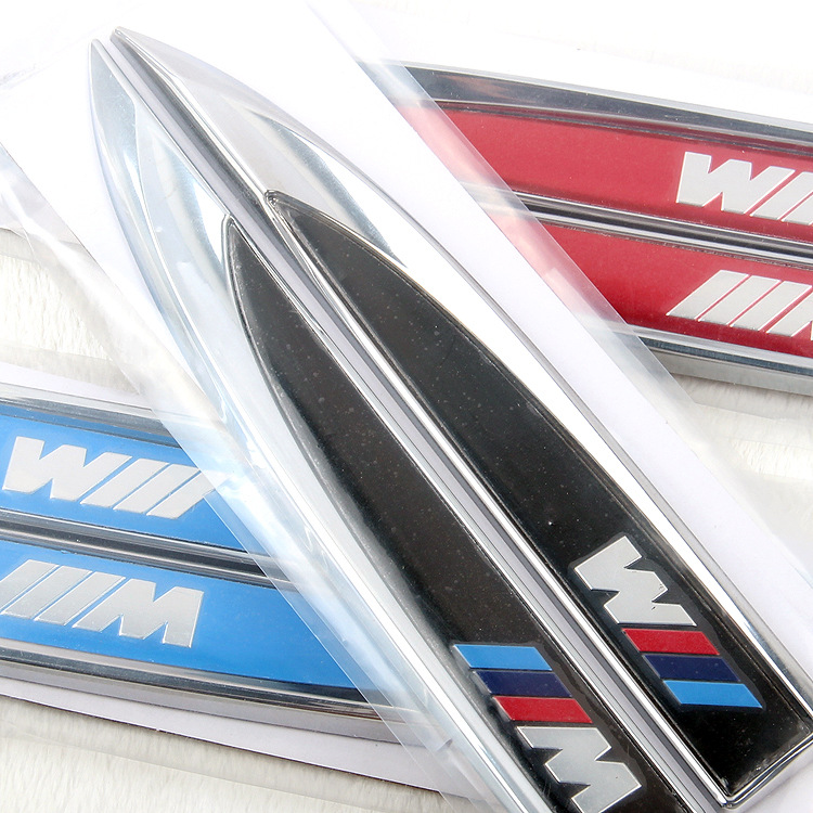 High Car styling M performan Blade series Fender stickers BMW e46 e39 e90 e60 e36 f30 e34 x5 e53 car accessories