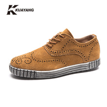 2016 Hot Sale Cow Split Zapatillas Deportivas Mujer Yeezy New Men's Shoes Chaussure Genuine Men Flat Casual Brand Bullock Tide(China (Mainland))