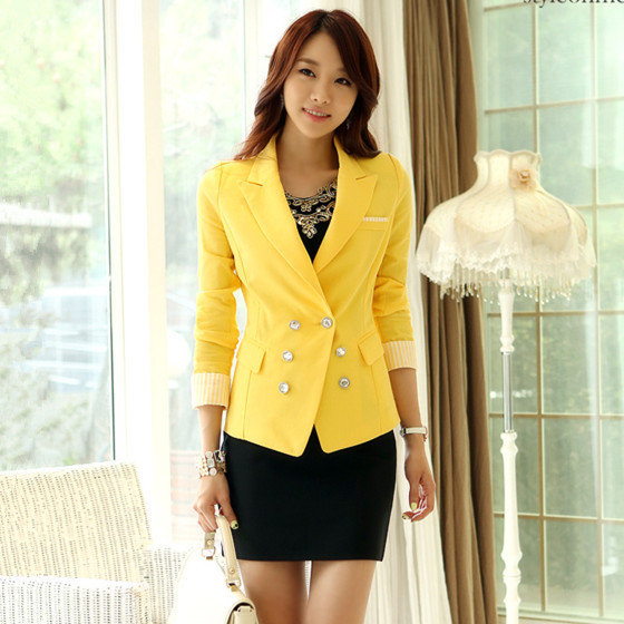 South Korea Japan Fashion Commute Office Lady Double Breasted Long Sleeve Blazer Business Suit Western-style Clothes - Darewin's Store store