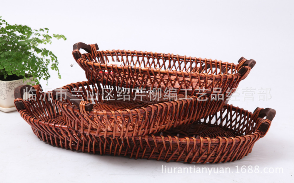 2015 Yagi To Straw Storage baskets box cabinet Preparation of home crafts Willow basket(China (Mainland))