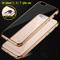 Luxury Ultra thin Plating TPU Silicone Flexible Soft Back Cover Case For Iphone 5 5S SE