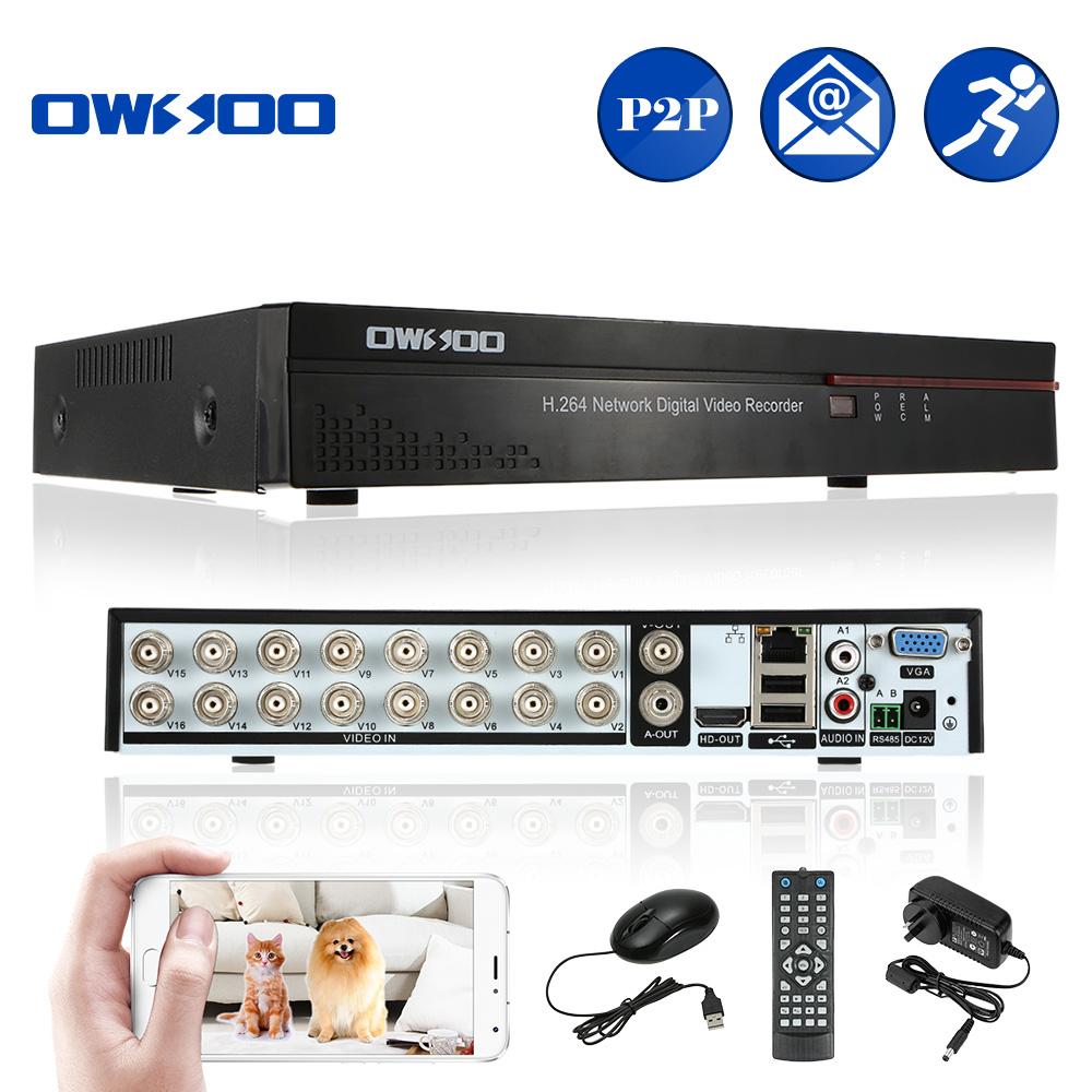 OWSOO D1 CCTV DVR 16Ch Full CIF 16 Channel H.264 P2P Security DVR Audio HD/VGA/BNC Output Neteork DVR Recorder For CCTV System(China (Mainland))