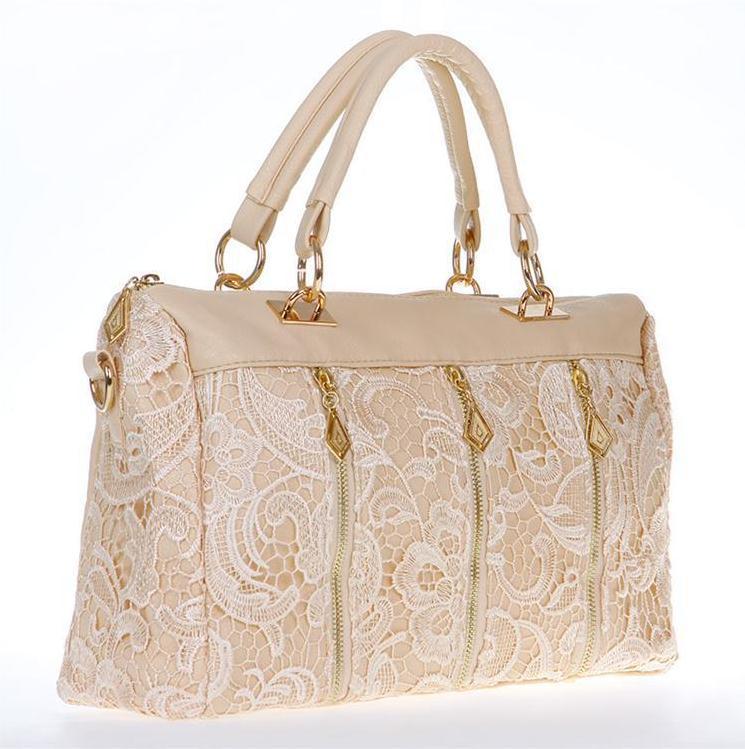 2015 Brand new lace decoration bags leather handbags wholesale handbags shoulder bag Korean fashion women messenger bag(China (Mainland))