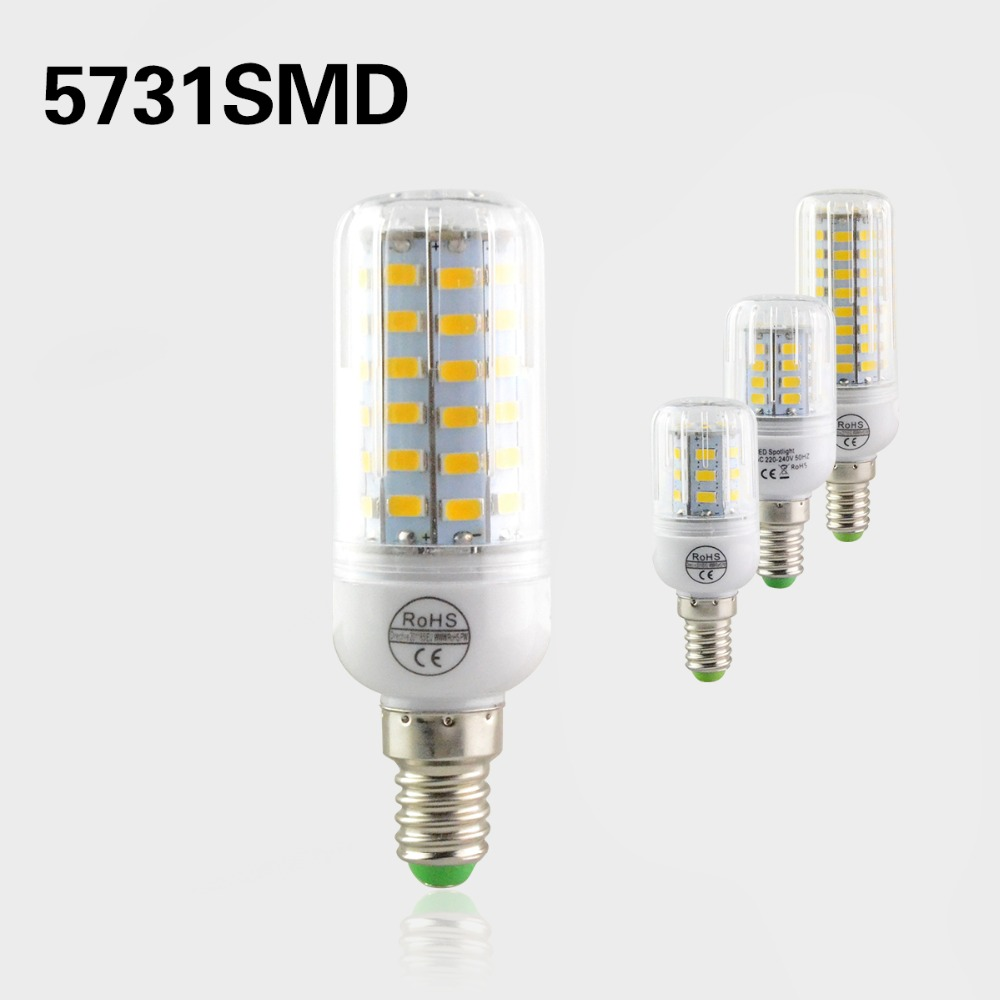 Newest Chip SMD5731 Bulb Lamp E14 24 30 64 80Leds Spot Light 220V 230V 240V Lampada Led Brighter Than SMD5730 Led Home Lighting(China (Mainland))