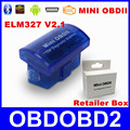 Latest V2 1 Super MINI ELM327 Bluetooth OBD OBD2 Wireless ELM 327 Multi Language For Android