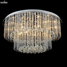 new cake design flush mount round crystal ceiling light ,contemporary crystal lamp 110-220v Dia600*H400mm(China (Mainland))