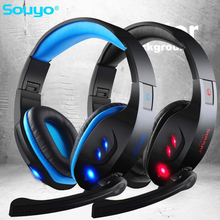 7.1 Surround USB Gamer Gaming Headphones Luminous With Microphone for Computer Folding Headsets Glow Headphone High Quality