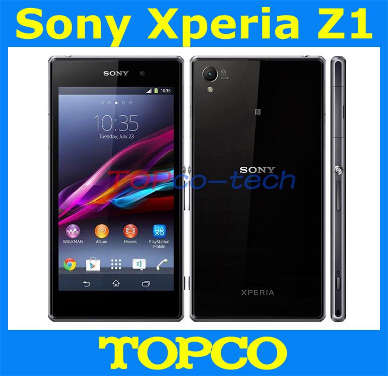 """Sony Xperia Z1 Original desbloqueado GSM 3 G e 4 G Android Quad Core 2 GB RAM L39h C6903 C6906 5.0 """" 20.7MP WIFI GPS 16 GB de armazenamento(China (Mainland))"""