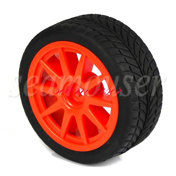 4pcs 1:10 RC On-road Car 10 Spoke Wheel Rims & Rubber Tires(China (Mainland))