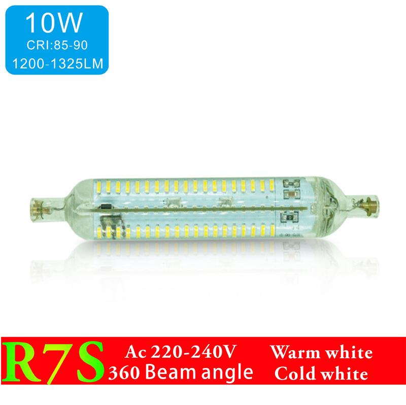 LED R7S Bulb 10W SMD4014 220V 1200-1300LM LED Lamp Bulb R7S Glass shell Light 360 Degree Halogen Lamp Floodlight Free Shipping(China (Mainland))