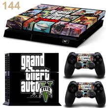 For Grand Theft Auto V PVC Skins Stickers For PS 4 Protective c Console & 2 Controller Decal(China (Mainland))