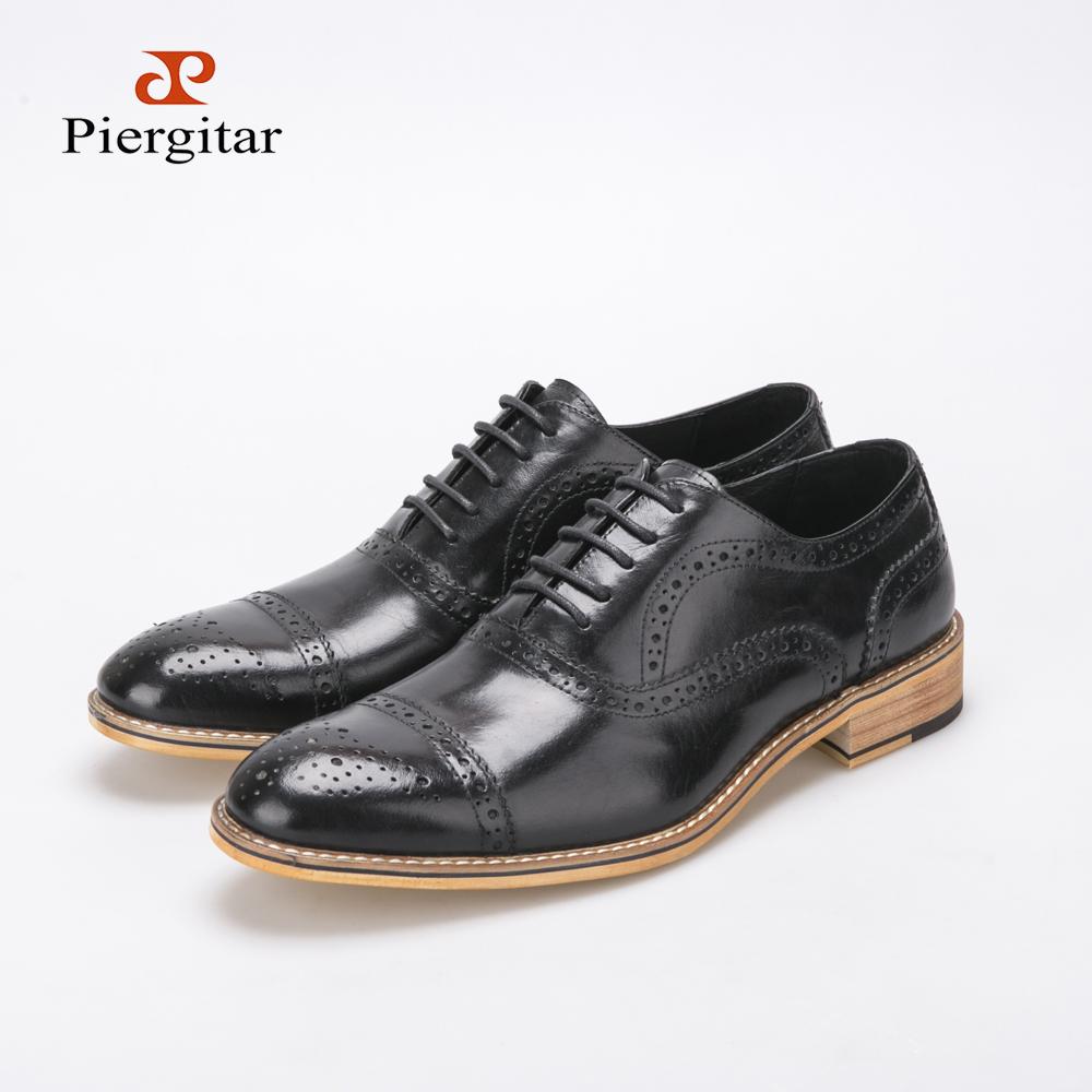 Men business shoes men fashion casual leather lace flat shoes wedding shoes party shoes oxford shoes Baroque pattern