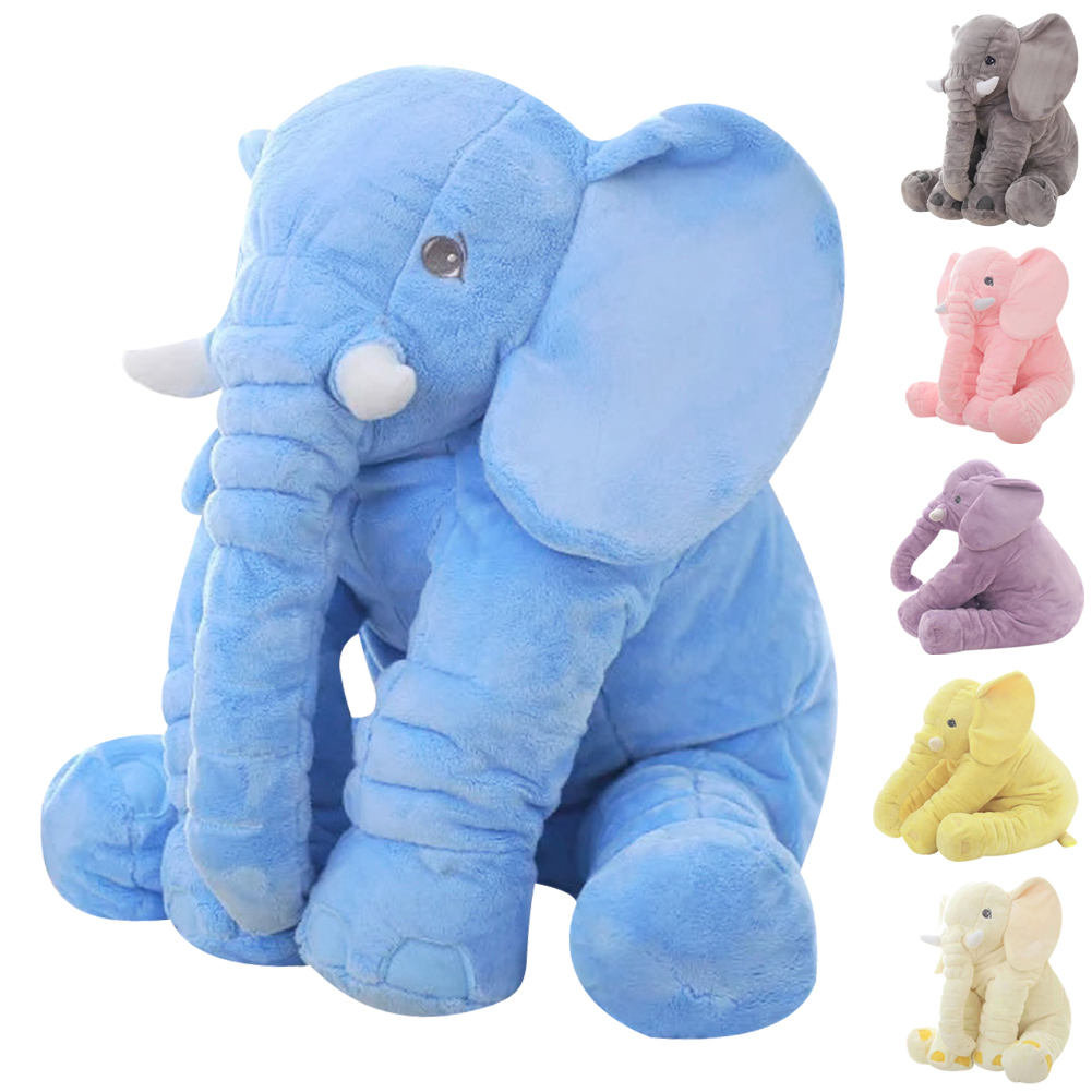 60cm Height Large Plush Elephant Doll Toy Kids Sleeping Back Cushion Cute Stuffed Elephant Baby Accompany Doll Xmas Gift K5BO(China (Mainland))