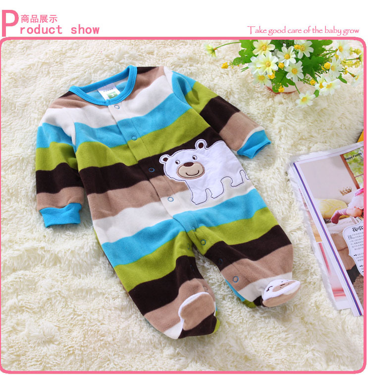 Newborn clothes polar fleece fabric baby boy rompers for Fabric for children s clothes