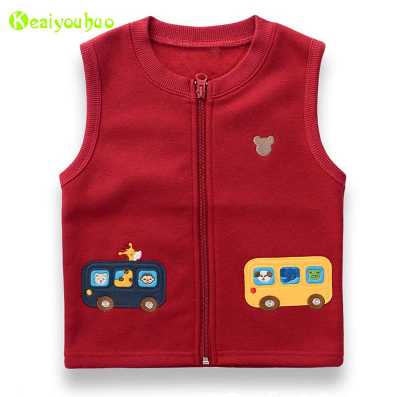KEAIYOUHOU 2017 Spring Autumn Boys Vest Coat Kids Baby Boys Cartoon Cars Patch Embroidered Pattern Vest Jacket Children Clothes(China (Mainland))