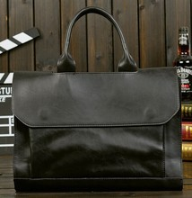 2016 new arrival men's messenger bags Leather Shoulder Messenger Business Computer Briefcase bag-JW003(China (Mainland))