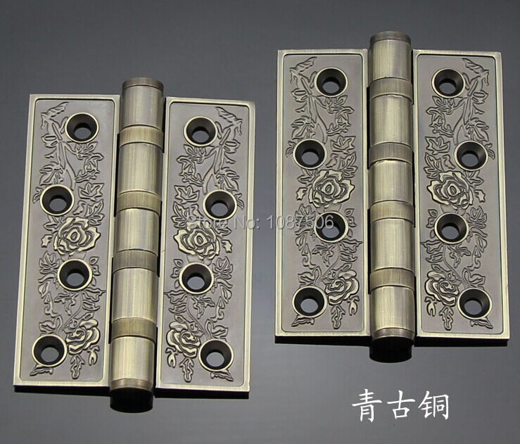 Free shipping Euro style Luxury antique copper Hardware hinge Door hinge Anechoic Furniture hinges(China (Mainland))