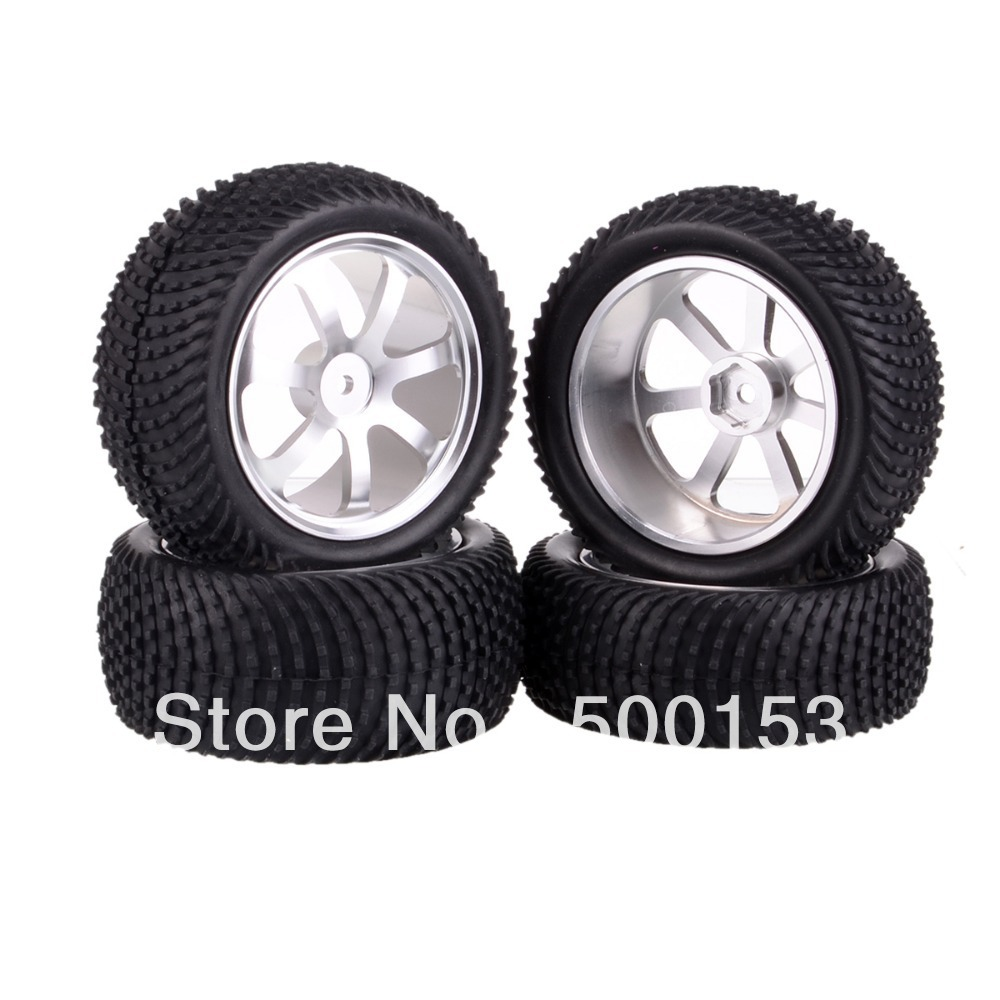 SET 1/10 Off-Road Buggy Front & Rear Aluminium Alloy Wheel Rim Tyre,Tires 66114