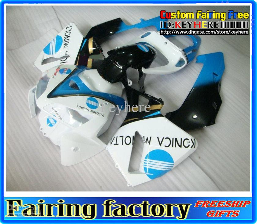 Hi-grade Injection White/blue ABS fairing for HONDA CBR600RR 2005 2006 fairings CBR 600RR 600 RR 05 06 Fairings kit(China (Mainland))