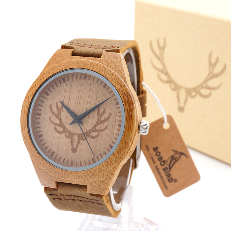 Bobobird Handmade Mens Solid Wood Watch Made with Natural Coffe Sandalwood(China (Mainland))