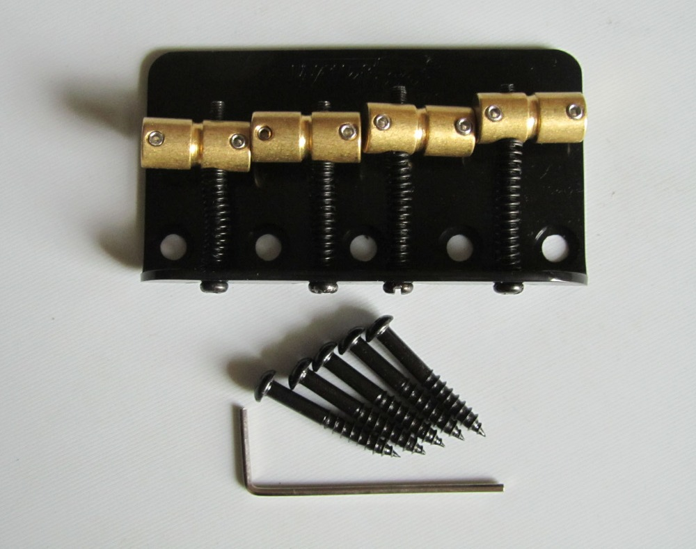 Wilkinson Bass Bridge w/ Brass Saddles fits P Precision Bass JB Black(China (Mainland))