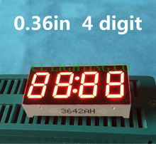 "Best Price 0.36 Inch 7 Segment 4 Digit Super RED 0.36"" 0.36in Clock LED Display Common cathode Time 12 Pins for DIY(China (Mainland))"