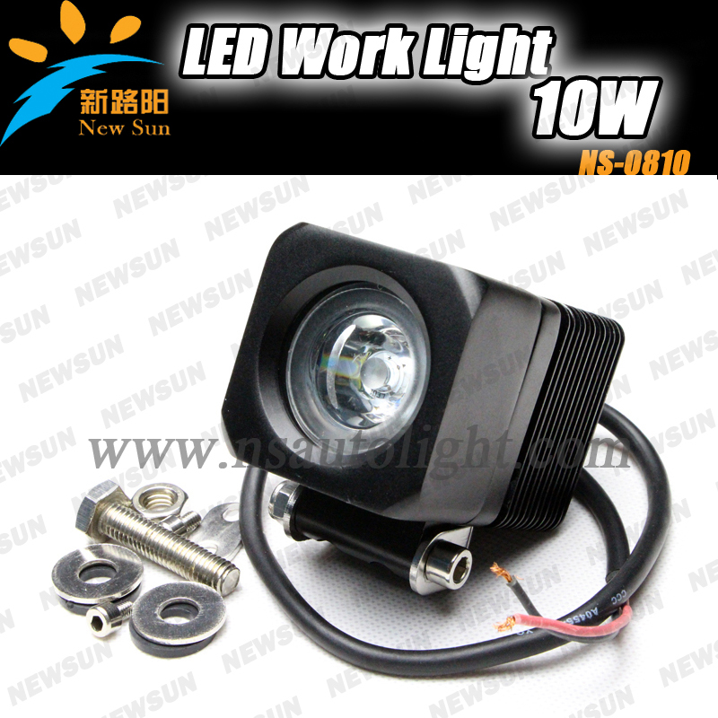 1pcs*10w high intensity CREE LEDs work light for truck,10w cree led mobile work light for offroad vehicel working lights(China (Mainland))