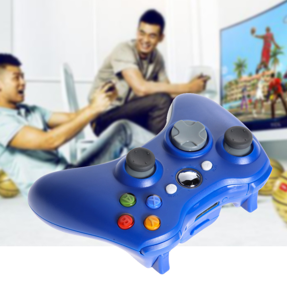 Promotion! Newest Game Controller PC 2.4GHz Wireless Gamepad Remote Controller for Microsoft Xbox 360 Console Blue(China (Mainland))