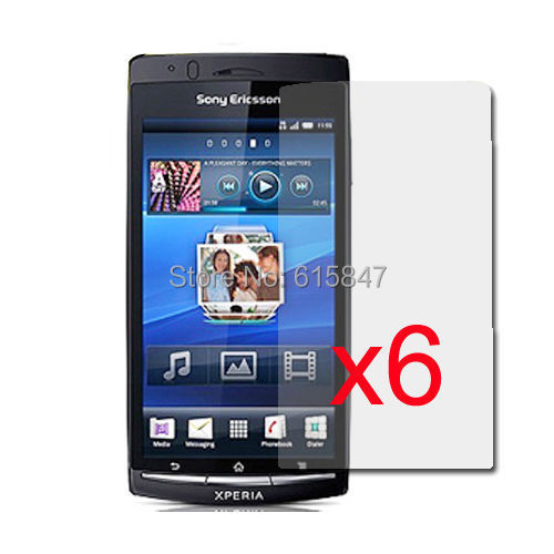 New 6x Clear LCD Screen Protector Guard Cover for Sony Ericsson Xperia ARC X12 Free Shipping(China (Mainland))