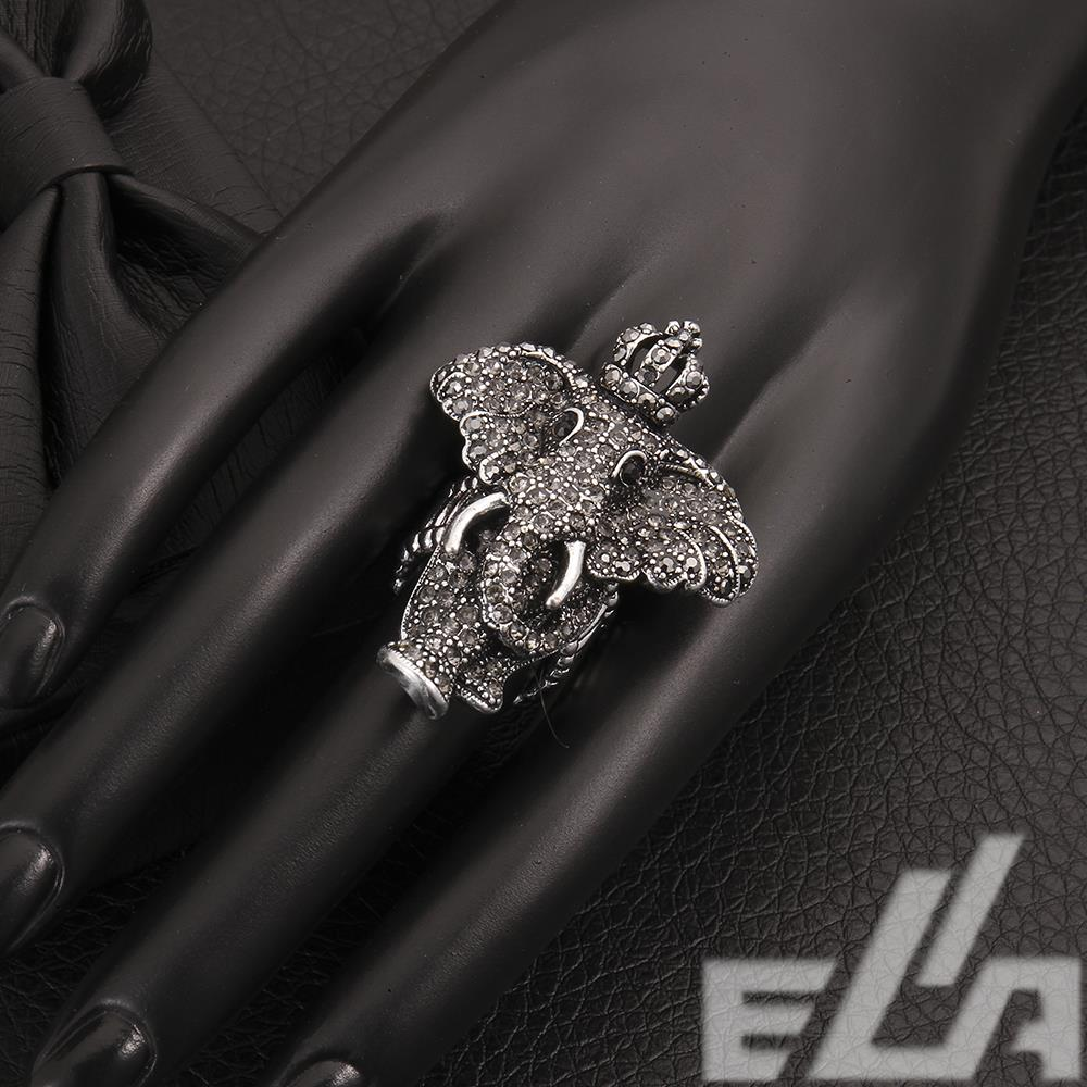 super deals! vintage jewelry punk charm Elephant Ancient silver / gold plated fashion design big ring for women(China (Mainland))