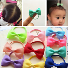 Buy 10 Pcs/lot Solid /Dot Candy Color Elastic Hair Ties Girls' Hair Bands Kids Accessories for $1.28 in AliExpress store