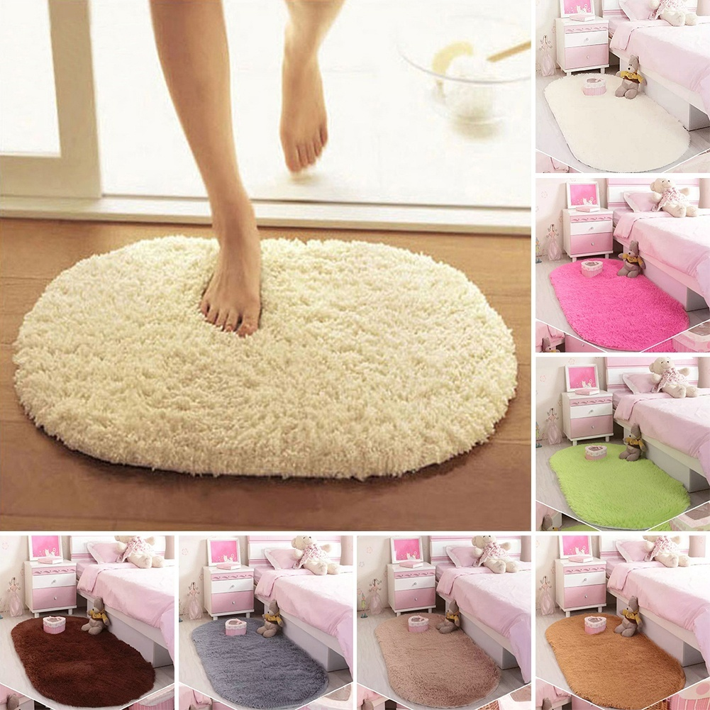 2016 New Promotion Fashion Design 360 Rotatable of Super Magic Slip-Resistant Pad Room Oval Carpet Floor mats 40*60CM(China (Mainland))