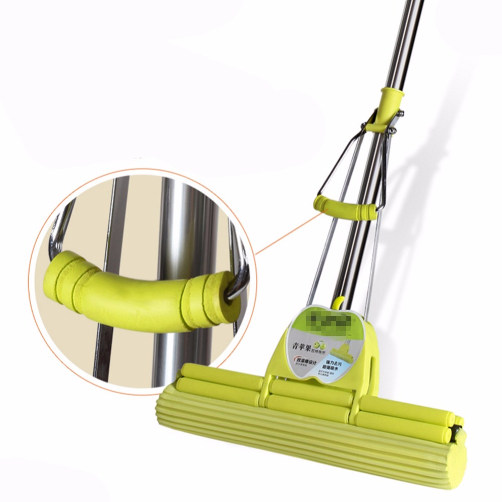 PVA Double Roller commercial Mop Super Water Absorption Tlescopic Quick Clean Floor Mop(China (Mainland))