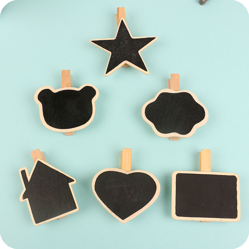 (10 Pieces/Lot) Wooden Stationery Wooden Clips Christmas Decorations School Binder Office Organizers Mini Wooden Clip 5-8CM(China (Mainland))