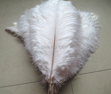 100pcs 30-35cm/12-14inch high quality precious White ostrich feathers Weddingt Variety of decorative(China (Mainland))