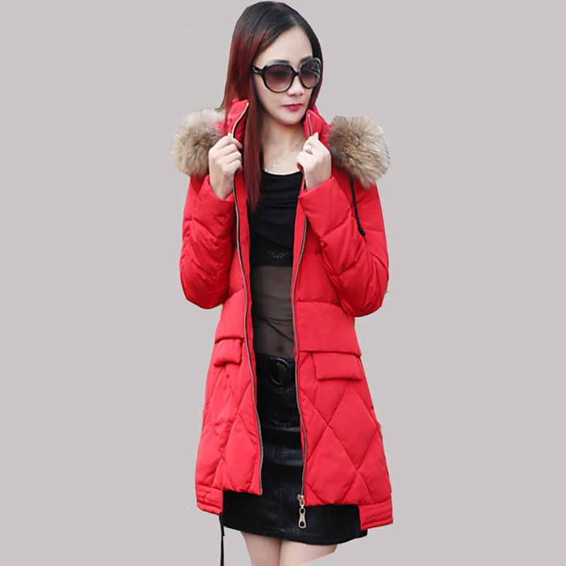 2016 Winter New Korean Women Long Coat Thick Duck Down Jacket Women Slim Nagymaros Collar Hooded Coats Warm Parkas JY-1159