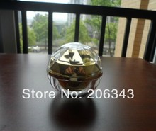 15g gold acrylic ball shape cream bottle,cosmetic container,,cream jar,Cosmetic Jar,Cosmetic Packaging - packing world -cosmetic and medicine store