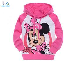 2015 Kids Hoodie Kitty KT Cat cartoon Minnie long-sleeved girls t-shirt casual sweater hoodie children's clothing free shipping(China (Mainland))