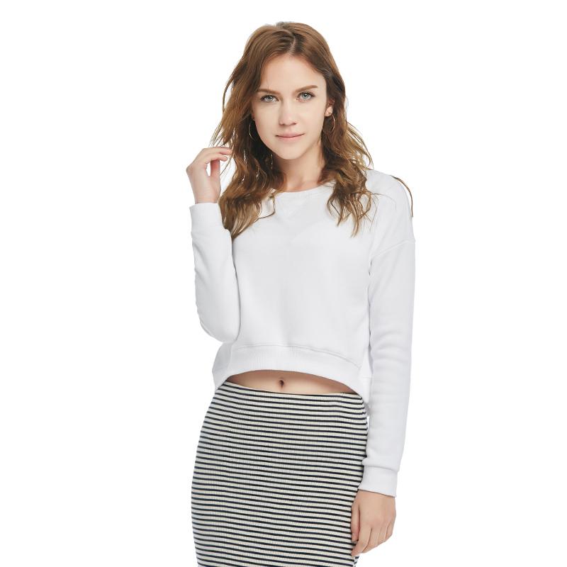 Womens Tops Fashion 2016 New Korean Leisure Sport T Shirt All Cotton Long Sleeve Tops(China (Mainland))