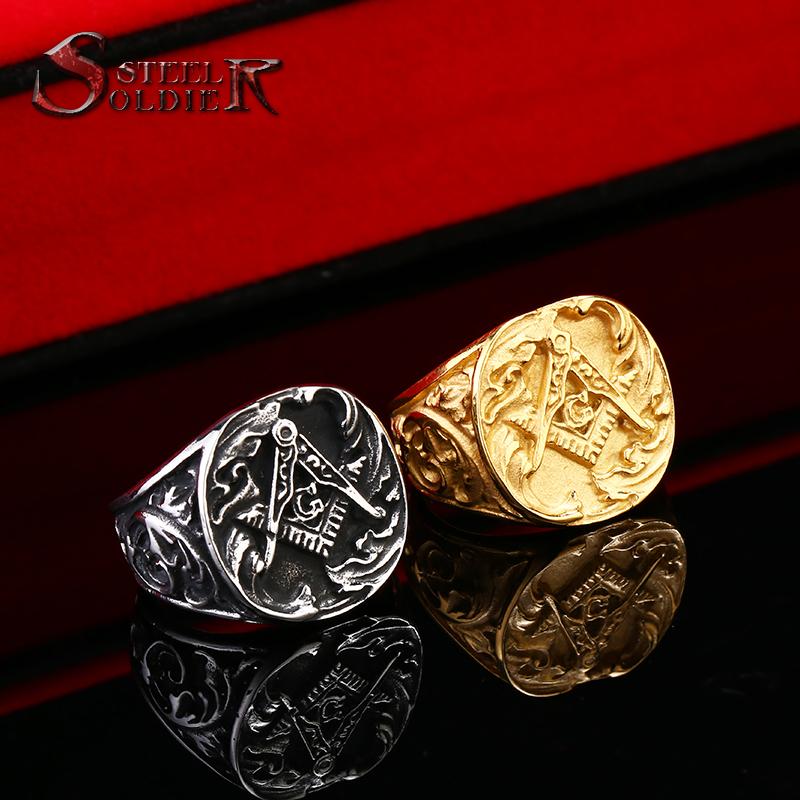 Class Ring Style Masonic Ring