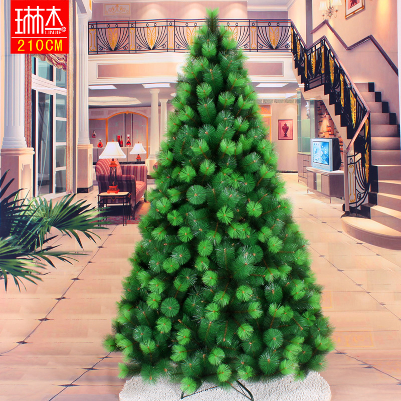210cm 2.1 meters two-color pine christmas tree decoration Christmas(China (Mainland))