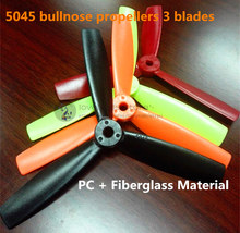 Wholesale 5045 bullnose propellers high-quality 5*4.5 inch 3 blades(CW/CCW) for DIY mini race drones QAV250/ZMR250 quadcopter