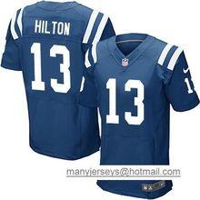 2016 Uomini Indianapolis Colts #12 Andrew Luck #13 T Y Hilton, blu Nero Bianco 100% cucita logo, spedizione gratuita(China (Mainland))