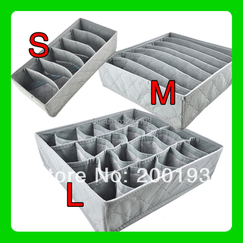 1piece/lot Bamboo Charcoal Fiber Non-Woven Storage Boxes for Bra,Socks,Briefs,Scarf