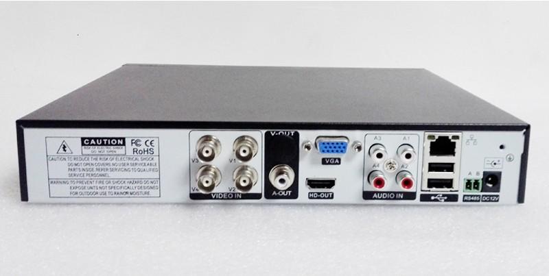 Blue-Ray Metal Case DVR 4CH/8CH 1080P/960P/720P/960H XMeye APP Coaxial Four in one Hybrid Coaxial AHD TVI CVI DVR Free Shipping