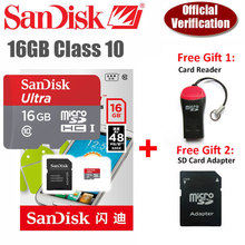 100% Original Genuine SanDisk NEW Version  16gb 16g Ultra micro SD Card microsd sandisk TF 48MB/s Support Official Verification(China (Mainland))