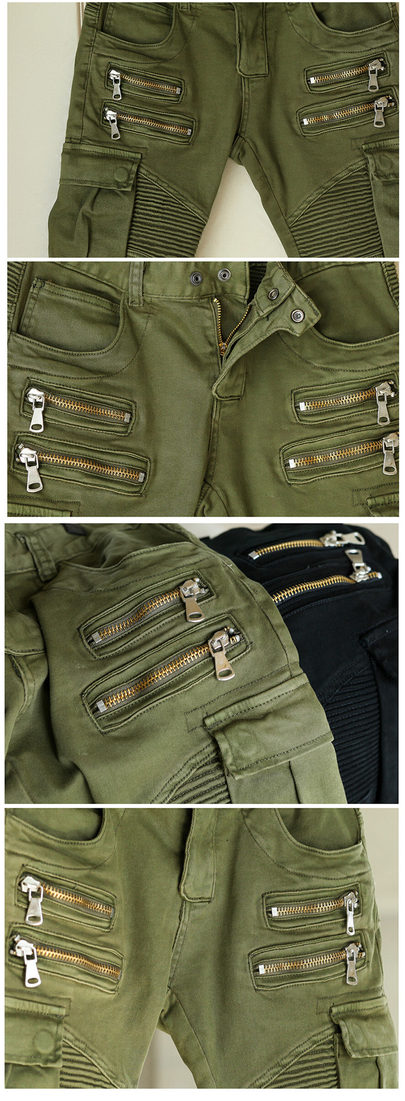 Fashion New Mens Denim Trousers Chinos Stretch Skinny Slim Fit Jeans All Waist Sizes